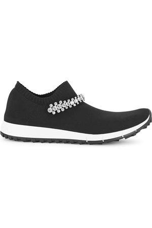 Jimmy Choo Verona crystal-embellished stretch-knit sneakers