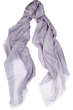 AMA Pure Lilac embellished cashmere scarf