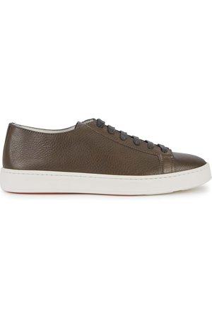 santoni Grained leather sneakers