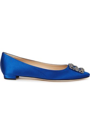 Manolo Blahnik Hangisi 10 silk satin pumps