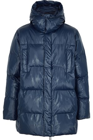 Rains Navy quilted shell coat