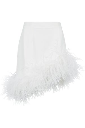 16Arlington Viven feather-trimmed mini skirt