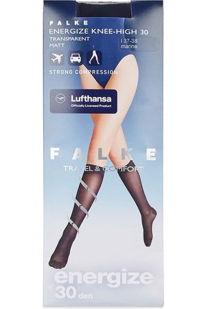 Falke Energize dark 30 denier knee-high socks