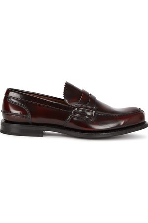 Church's Tunbridge chestnut leather penny loafers