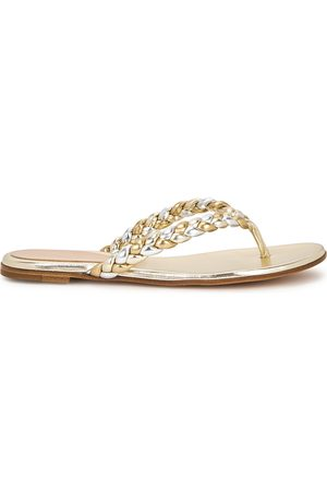 Gianvito Rossi Tropea metallic leather sandals