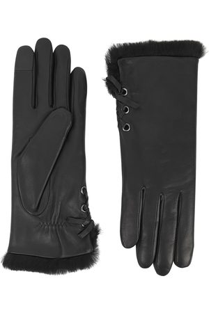 AGNELLE Women Gloves - Aliette fur-lined leather gloves