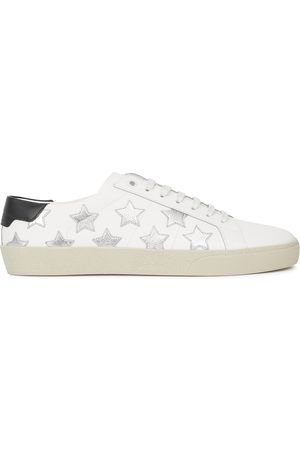 Saint Laurent Women Sneakers - SL/06 star-appliquéd leather sneakers