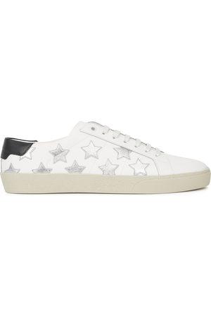 Saint Laurent Women Sneakers - SL/06 star-appliquéd leather sneakers