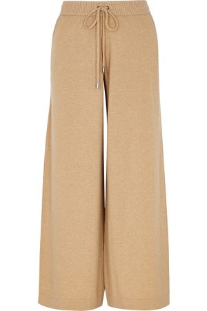 Johnstons Of Elgin Colette camel cashmere sweatpants