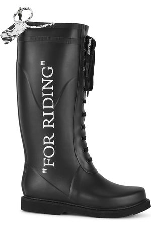 OFF-WHITE For Riding rubber wellington boots