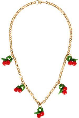 SANDRALEXANDRA Cherry gold-tone necklace
