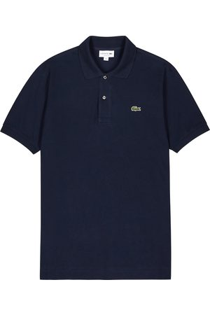 Lacoste Navy piqué cotton polo shirt