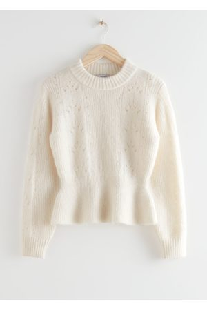 & OTHER STORIES Mock Neck Peplum Knit Sweater