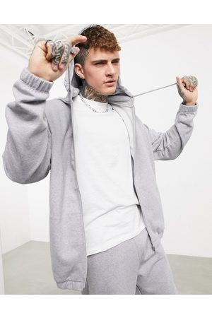 ASOS Organic oversized tracksuit with zip hoodie & oversized sweatpants in marl