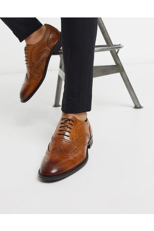 ASOS Brogues - Oxford brogue shoes in tan leather