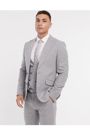 Gianni Feraud Skinny fit flannel suit jacket
