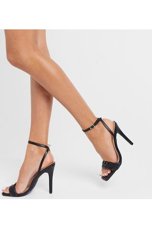 Raid Wide Fit Judy plaited heeled sandals in