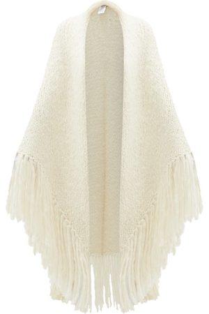 GABRIELA HEARST Lauren Fringed Cashmere Wrap - Womens - Ivory