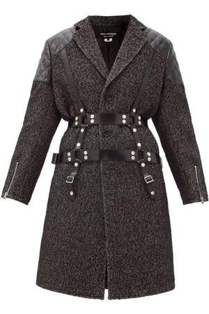 JUNYA WATANABE Vinyl-strap Patch-pocket Wool-tweed Coat - Womens