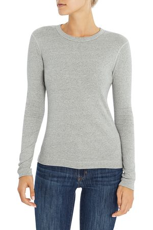 Three Dots Long-Sleeve Cotton Tee