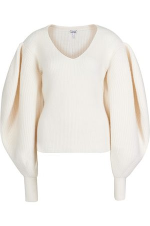 Loewe Balloon sleeve v-neck sweater