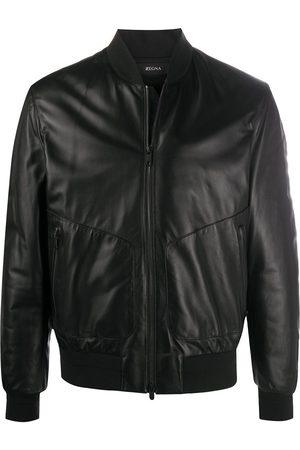 Z Zegna Men Leather Jackets - Long-sleeved bomber jacket