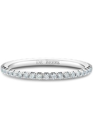 De Beers Jewellers 18kt white gold diamond Aura Eternity band ring