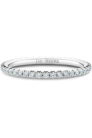 De Beers Women Rings - 18kt white gold diamond Aura Eternity band ring