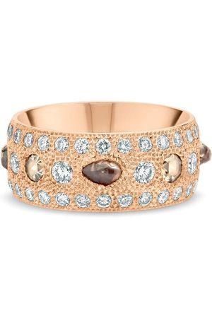 De Beers 18kt rose Talisman diamond large band ring