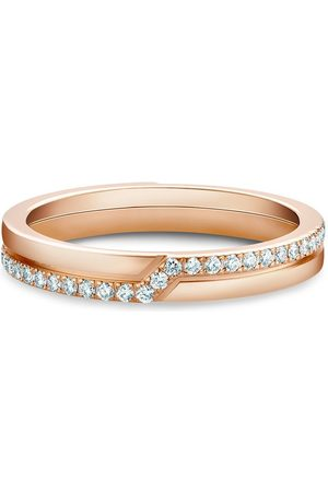 De Beers Jewellers 18kt rose gold The Promise diamond ring