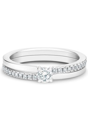 De Beers Jewellers Women Rings - 18kt white gold The Promise small solitaire round brilliant diamond ring