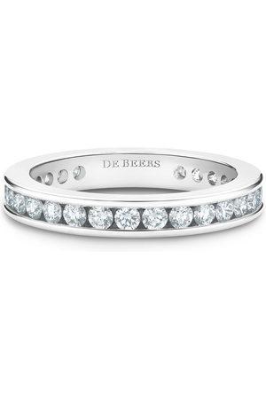 De Beers Jewellers Platinum channel-set diamond eternity band