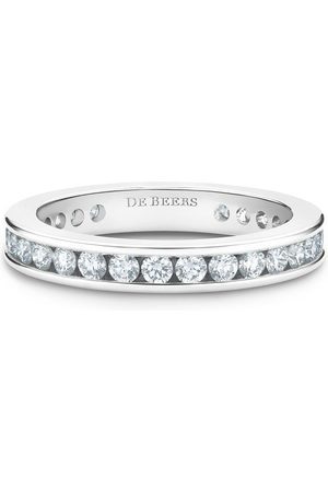 De Beers Women Rings - Platinum channel-set diamond eternity band