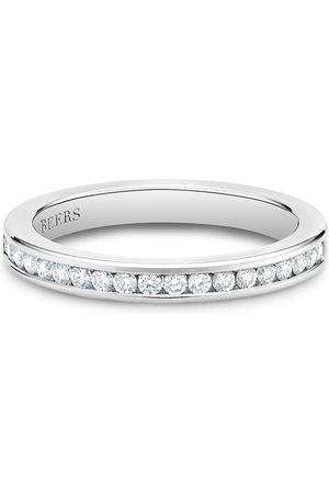De Beers Jewellers Women Rings - Platinum channel-set half eternity diamond band ring