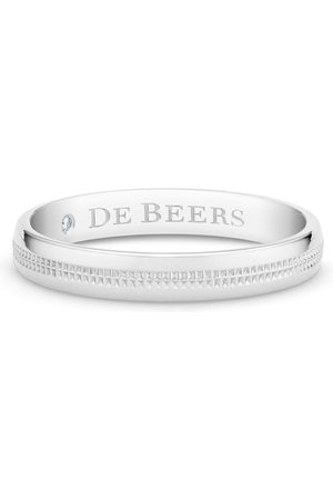 De Beers Engraved-logo ring
