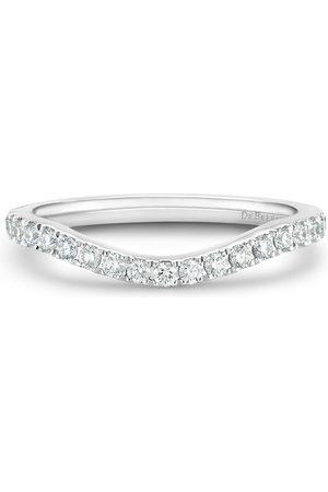 De Beers Jewellers Platinum DB Classic half diamond eternity shaped band