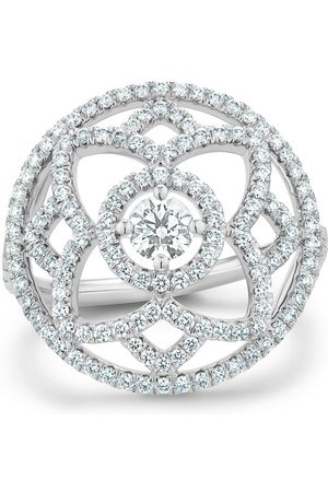 De Beers 18kt white gold Enchanted Lotus diamond medal ring