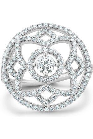 De Beers Women Rings - 18kt white gold Enchanted Lotus diamond medal ring