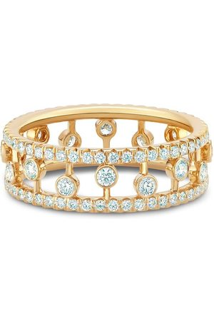 De Beers Jewellers 18kt yellow Dewdrop diamond band