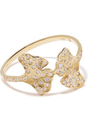 Aurélie Bidermann 18kt yellow Ginkgo diamond ring