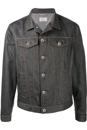 Brunello Cucinelli Charcoal grey denim jacket