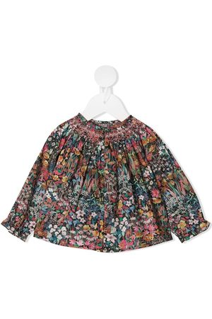 BONPOINT Floral-print smocked blouse