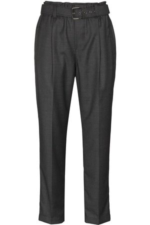 Brunello Cucinelli Straight leg belted trousers - Grey