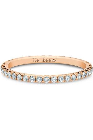 De Beers 18kt rose gold diamond Aura Eternity band ring