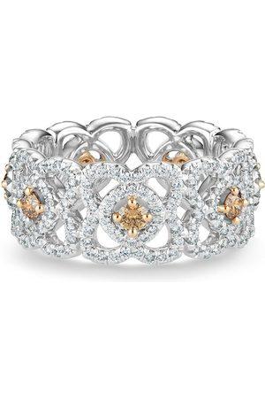 De Beers Jewellers Women Rings - 18kt white gold Enchanted Lotus diamond band