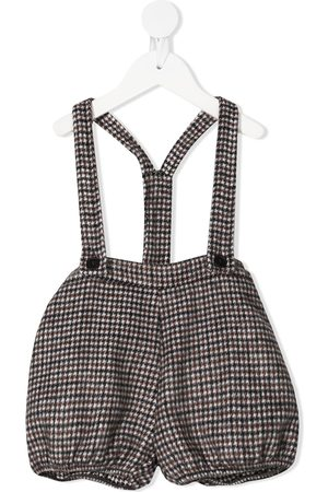 DOUUOD KIDS Houndstooth dungarees