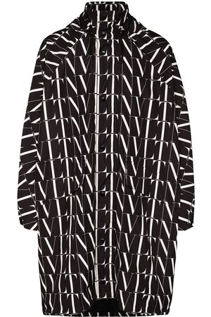 VALENTINO Hooded VLTN logo-print lightweight jacket