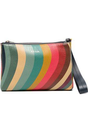 Paul Smith Swirl leather clutch bag