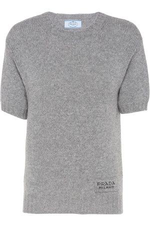 Prada Crew-neck shortsleeve jumper - Grey