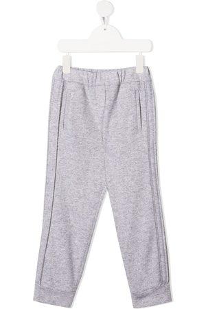 Brunello Cucinelli Cashmere-blend track pants - Grey
